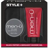 Menu men-u Style+ Black Pepper & Bergamot Shower Gel 100ml - Clay