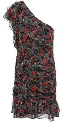 Veronica Beard One-shoulder Floral-print Silk-georgette Mini Dress