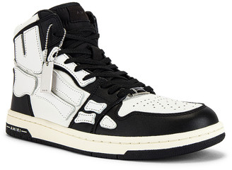Amiri Skel Hi-Top Sneakers in Black & White | FWRD