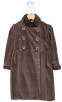 Marie Chantal Girls' Faux Fur-Trimmed Velvet Coat