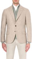 Brunello Cucinelli regular-fit textured wool and silk jacket