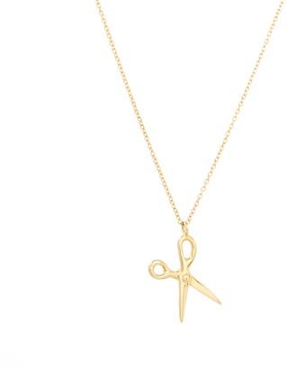 Scissor Necklace 14K Yellow Gold