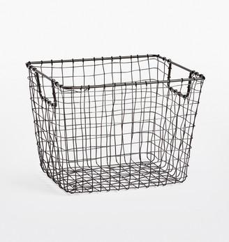Rejuvenation Medium Oil-Rubbed Bronze Wire Storage Basket