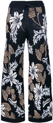 Barrie Floral Flared Trousers