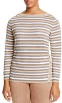 Marina Rinaldi Abigail Metallic Stripe Button Side Sweater