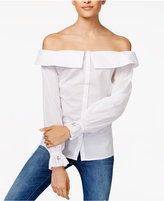 MinkPink Inventors Daughter Cotton Off-The-Shoulder Blouse
