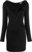 RED Valentino Mesh Insert Fitted Dress