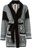 No.21 patterned cardi-coat