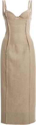 Jacquemus Valerie Woven Midi Dress