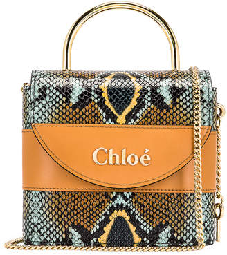 Chloé Abylock Embossed Croc Crossbody Bag in Faded Blue | FWRD