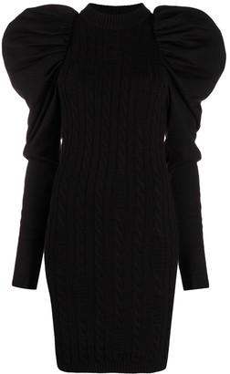 GCDS Puff-Shoulder Mini Dress