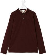 Burberry longsleeved polo shirt - kids - Cotton - 14 yrs