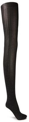 Wolford Sparkle Metallic Pinstriped 40 Denier Socks