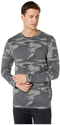 RVCA VA Sport Vent Long Sleeve Top (Camo) Men's Clothing