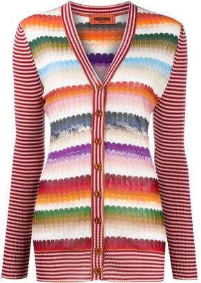Missoni Striped Long-Sleeve Cardigan