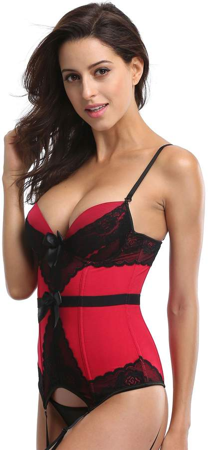 c863228321b Red Lace Bustier - ShopStyle Canada