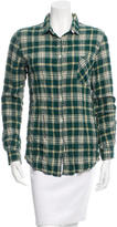 Golden Goose Deluxe Brand Plaid Button-Up Top