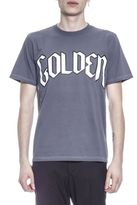 Golden Goose Deluxe Brand Cotton T-shirt With Golden Written