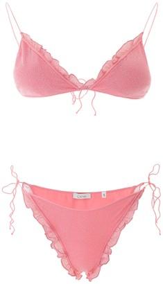 Oseree Frill Trim Bikini