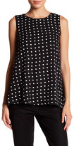 Adrienne Vittadini Sleeveless Polka Dot Blouse