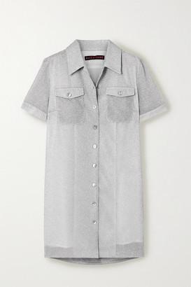 ALEXACHUNG Lurex Mini Dress - Silver