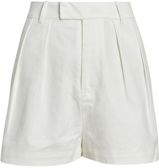 SIR the Label Sabine Pleated Cotton Shorts