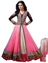"Fabboom New Women Georgette Salwar Suit Set Size (Length 56""/Burst 42"")"