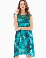 Soma Intimates Chiffon Overlay Short Dress Palm Atlantis Jade