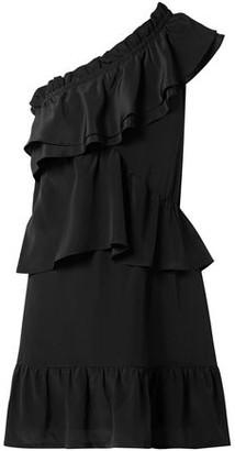 IRO Brooka One-shoulder Ruffled Washed-silk Mini Dress