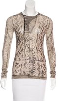 Jean Paul Gaultier Wool Printed Top