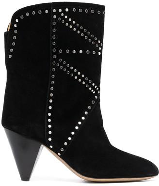 Isabel Marant Stud-Embellished Ankle Boots