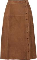 Vanessa Seward Burton Suede Skirt