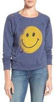 Mother Women's 'The Square' Destroyed Graphic Pullover Sweatshirt