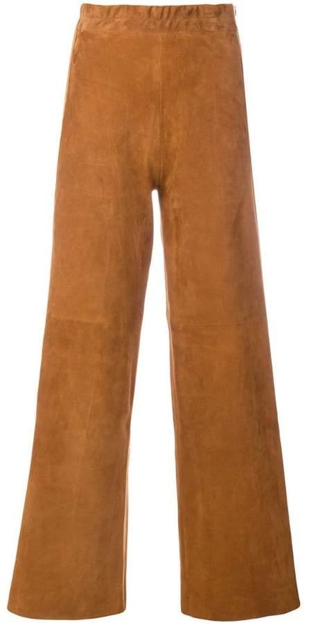 Sylvie Schimmel textured flared trousers