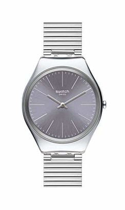 Swatch Womens Analogue Swiss Quartz Watch with Stainless Steel Strap SYXS123GG