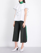 Rosie Assoulin Envelope ruffled cotton top