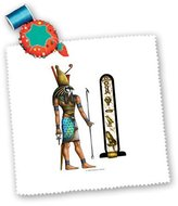 3dRose LLC qs_167463_4 Badhead Gadroon Mythology - Horus Egyptian God Pagan Art - Quilt Squares