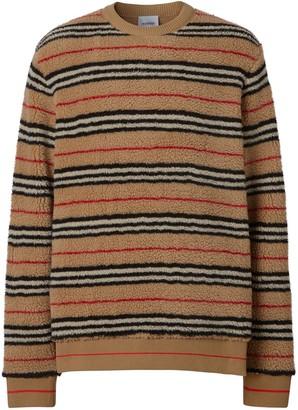 Burberry Icon Stripe fleece sweatshirt