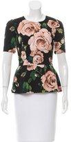 Dolce & Gabbana Floral Print Peplum Top