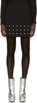 Versus Black Cut-out Miniskirt