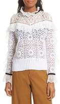 Sea Women's Ruffle Lace Sweatshirt