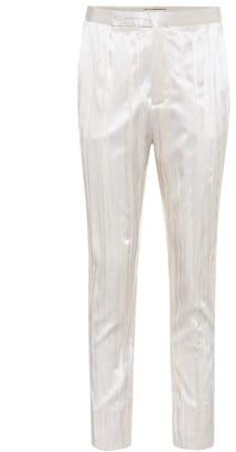 Saint Laurent Pleated silk-blend satin pants