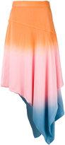 J.W.Anderson degradé asymmetric skirt