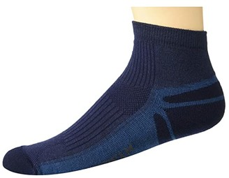 Wigwam Thunder Pro Quarter (Navy II) Crew Cut Socks Shoes
