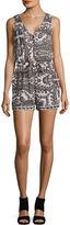 Lucky Brand V-Neck Sleeveless Printed Jumpsuit