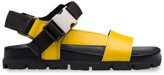 Prada buckle detailed flat sandals