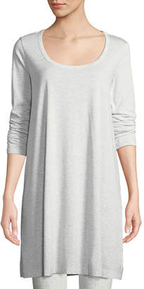Joan Vass Plus Size Scoop-Neck Long-Sleeve Tunic