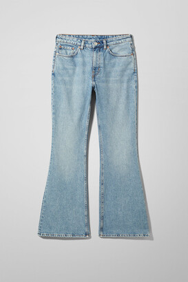 Weekday Wave High Flare Slim Jeans - Blue