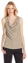 Calvin Klein Women's Solid Drape-Neck Top