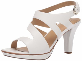 Naturalizer Womens Dee White Slingback Heels 5.5 M